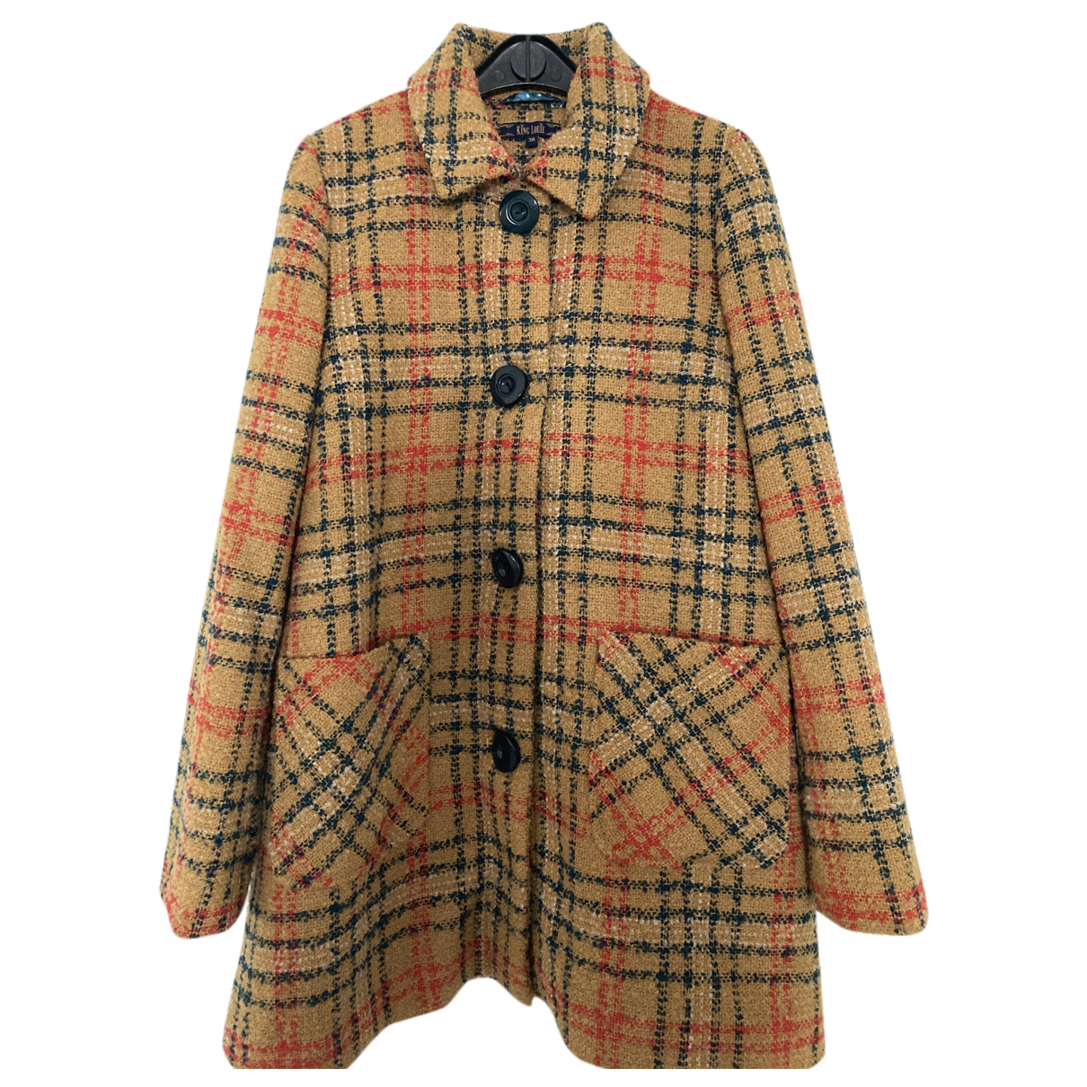 Non Signé / Unsigned N Yellow Wool coat for Women 38 FR