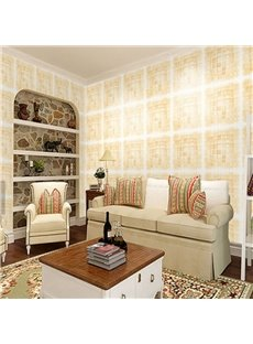 Square Plaids with White Outlines 3D Waterproof Wall Mural