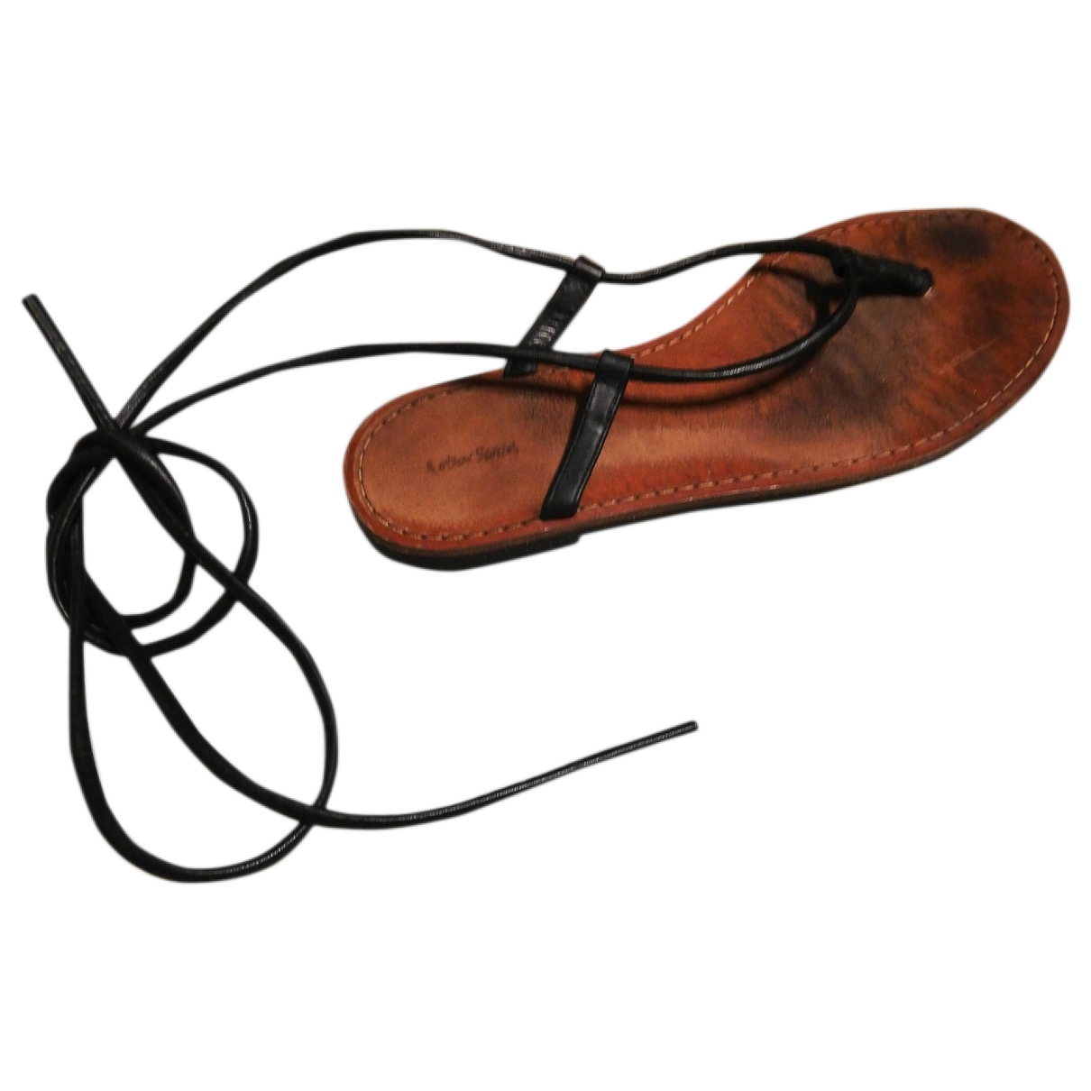 & Stories \N Black Leather Sandals for Women 38 EU