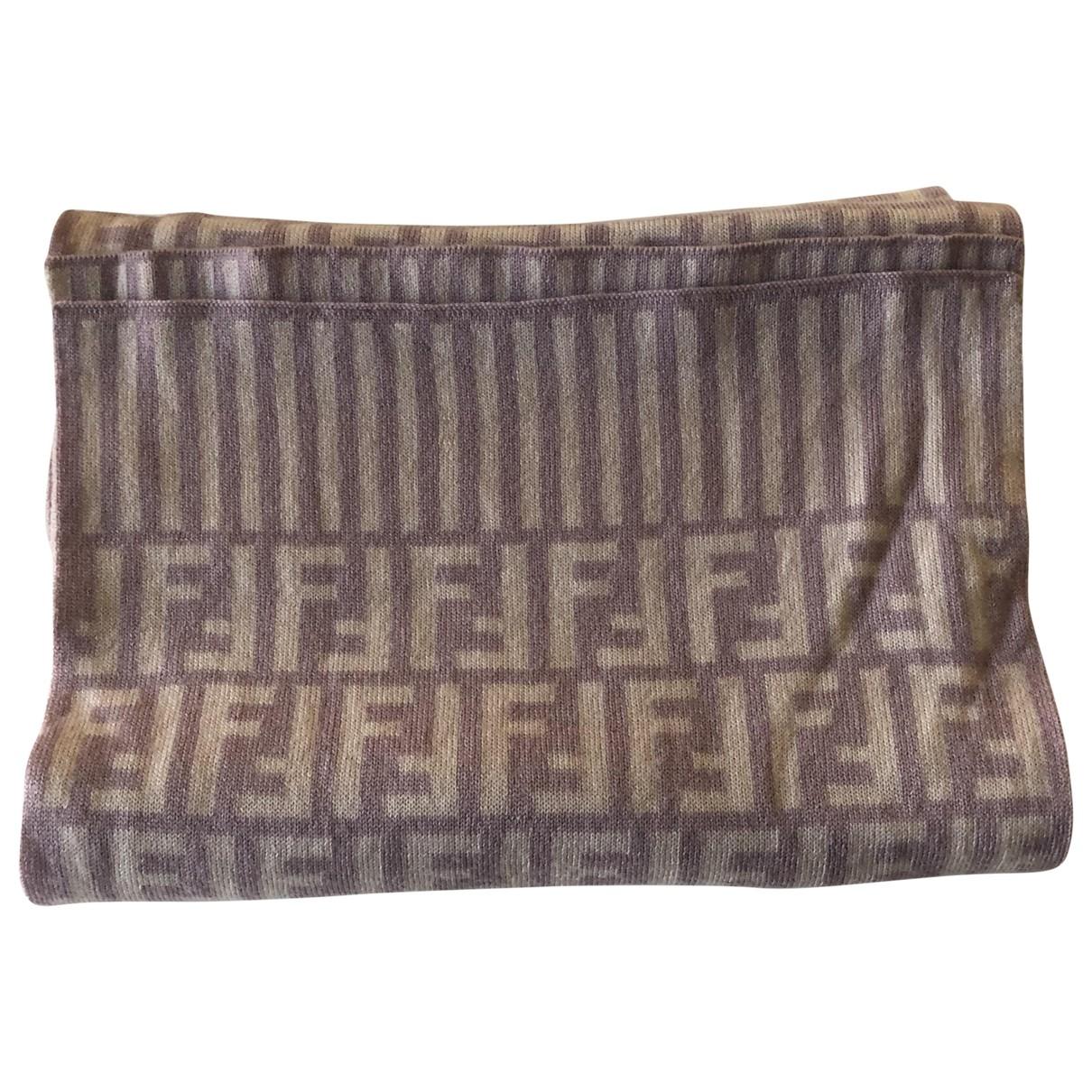 Fendi - Foulard   pour femme en laine - rose
