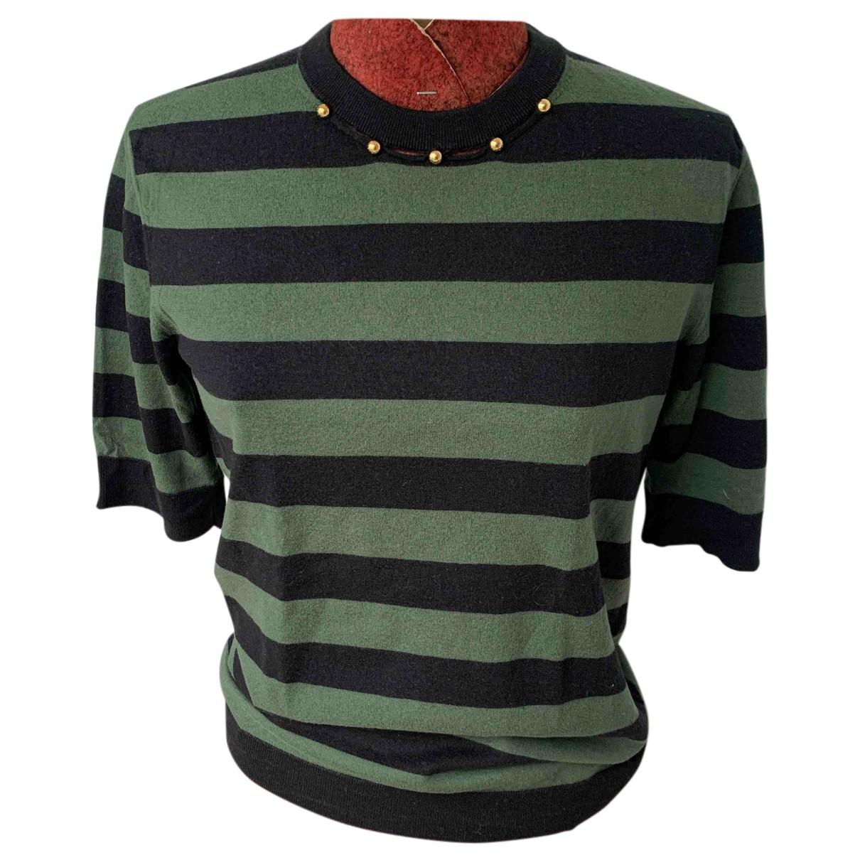 Louis Vuitton - Pull   pour femme en coton - vert