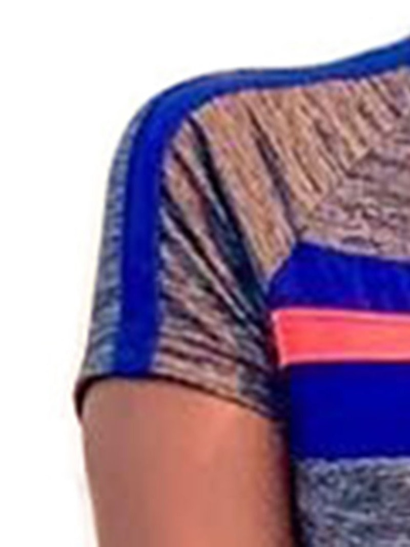 Ericdress Zipper Color Block Sport Mid Waist Skinny Jumpsuit