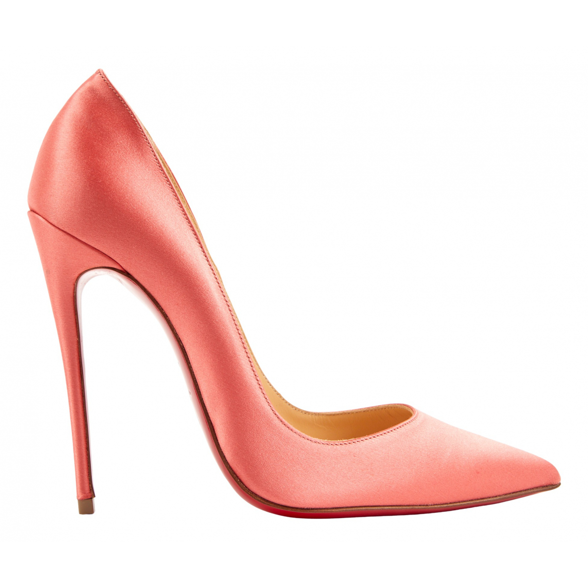 Christian Louboutin So Kate  Pink Cloth Heels for Women 37.5 EU
