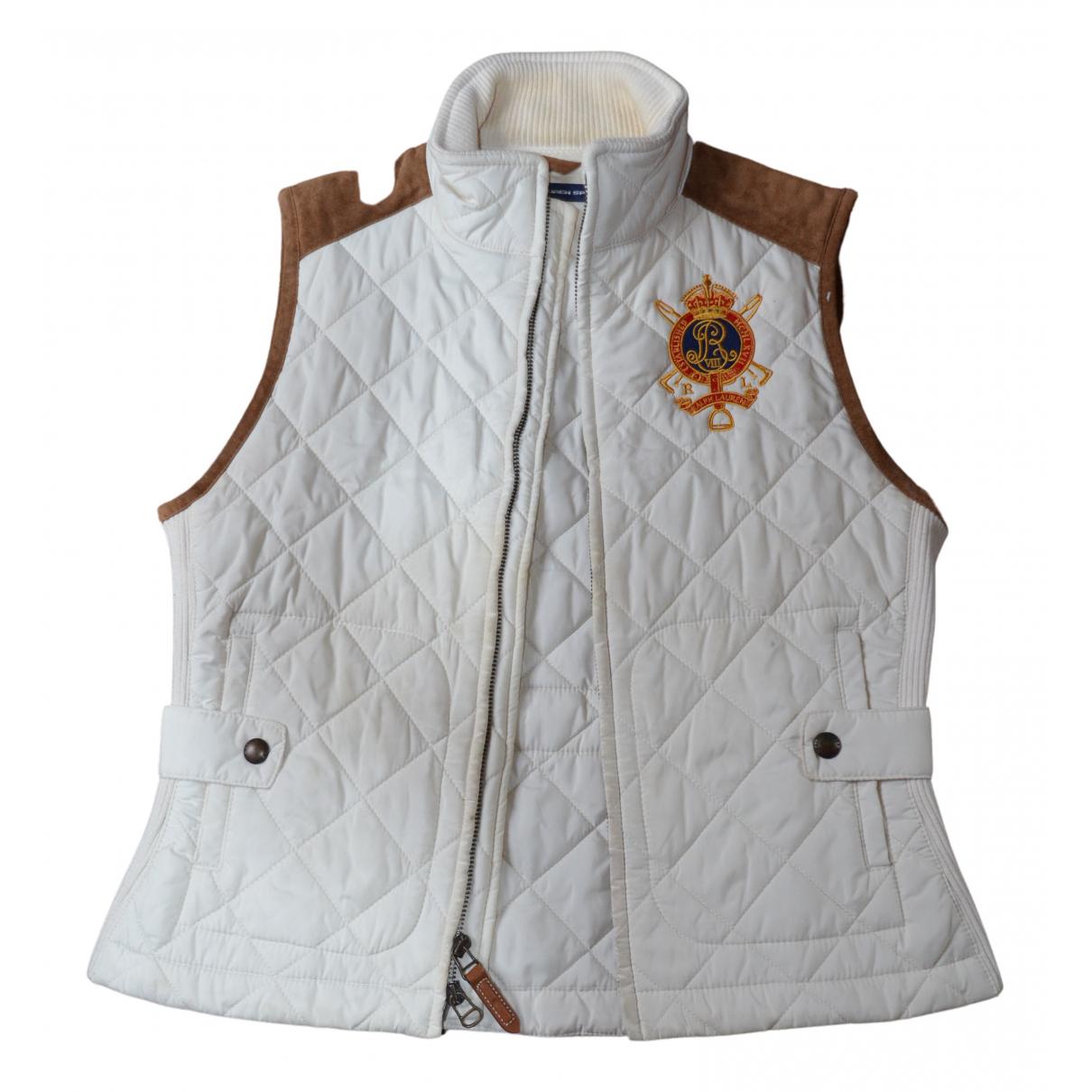 Polo Ralph Lauren N Ecru Leather jacket for Women M International