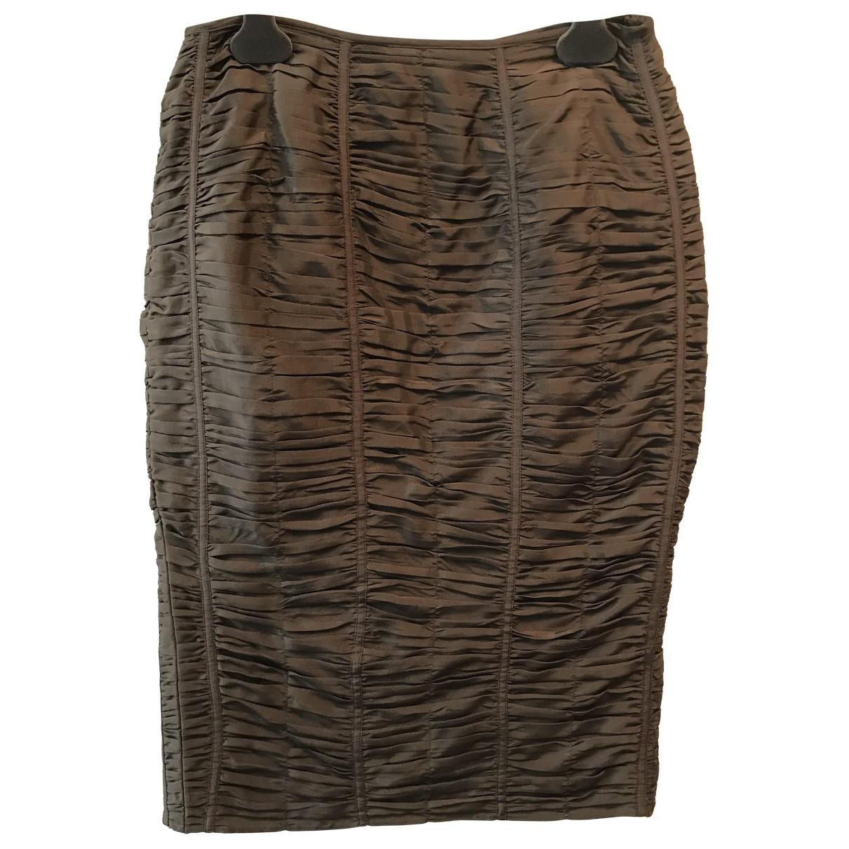 Gucci - Jupe   pour femme en soie - marron
