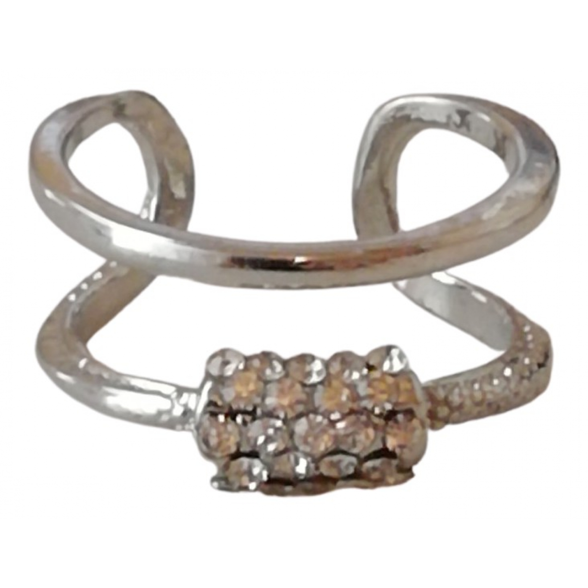 Non Signé / Unsigned Bagues Cocktails Silver Metal ring for Women 56 EU