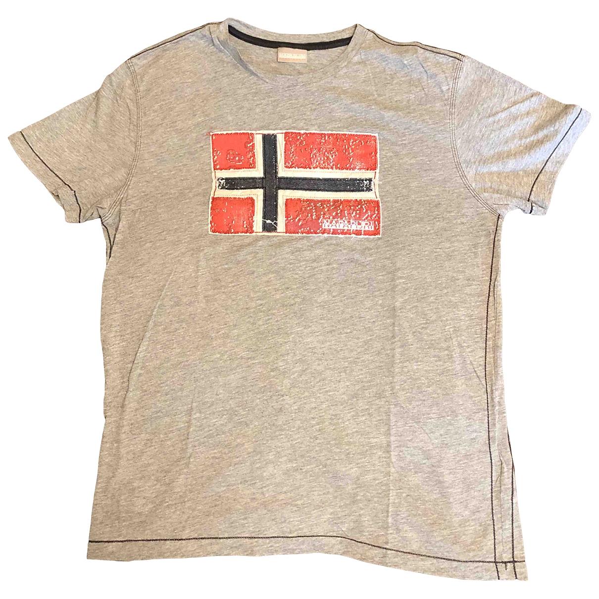 Napapijri - Tee shirts   pour homme en coton - gris