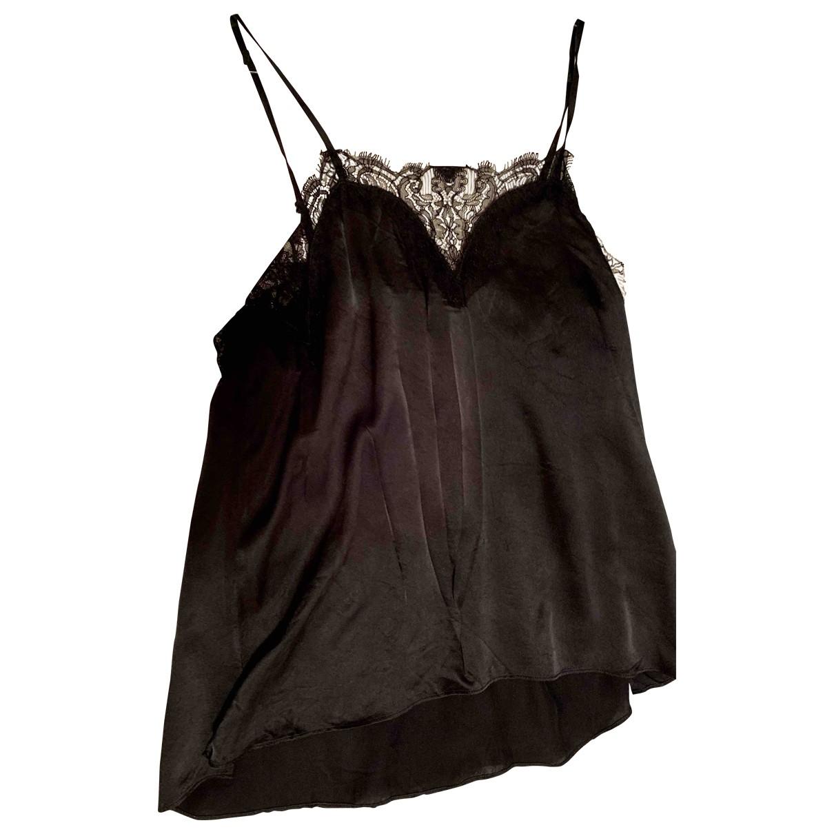 The Kooples - Top Spring Summer 2019 pour femme en soie - noir