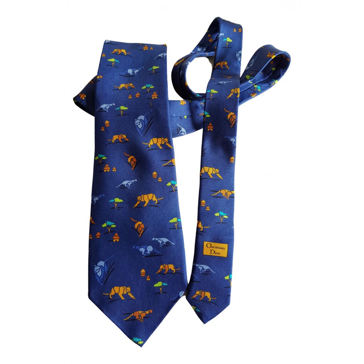 Dior Homme \N Krawatten in  Blau Seide