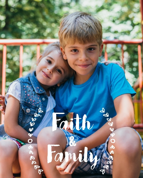 Family + Friends 16x20 Adhesive Poster, Home Décor -Faith And Family