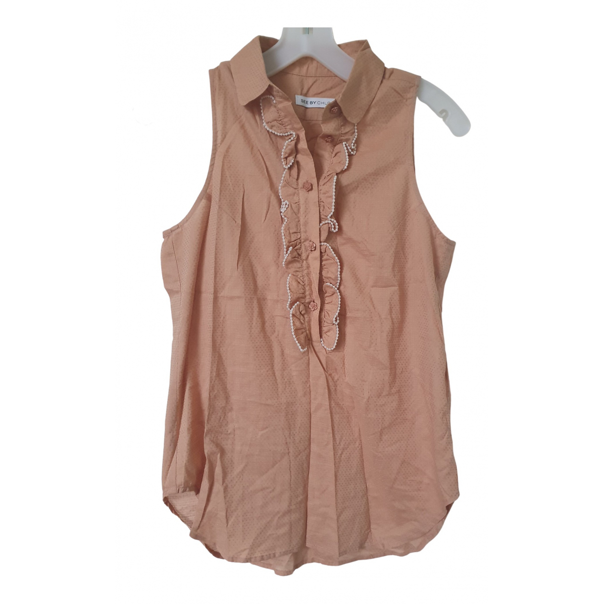 See By Chloé N Pink Cotton  top for Women 2 US
