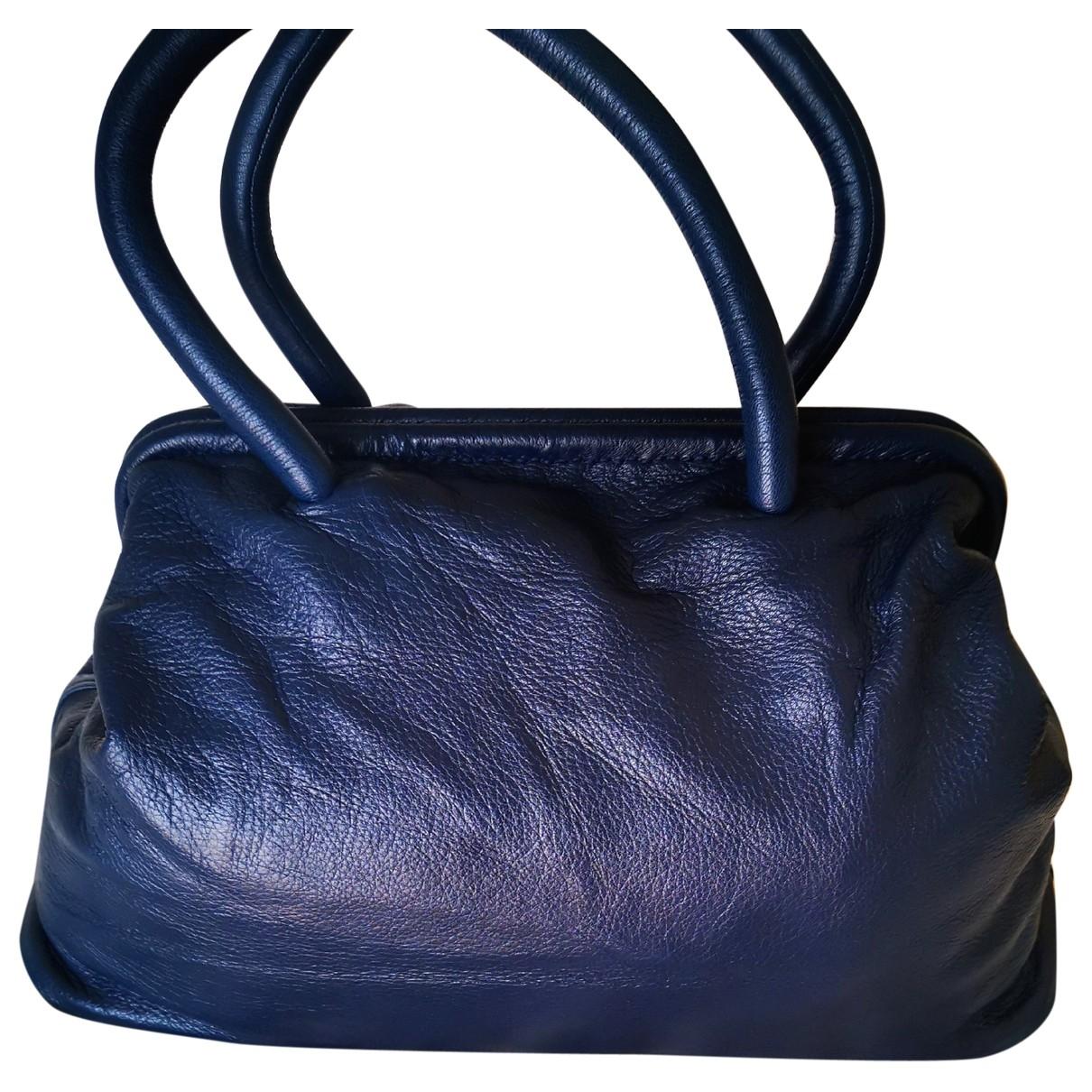 Jil Sander \N Handtasche in  Blau Leder