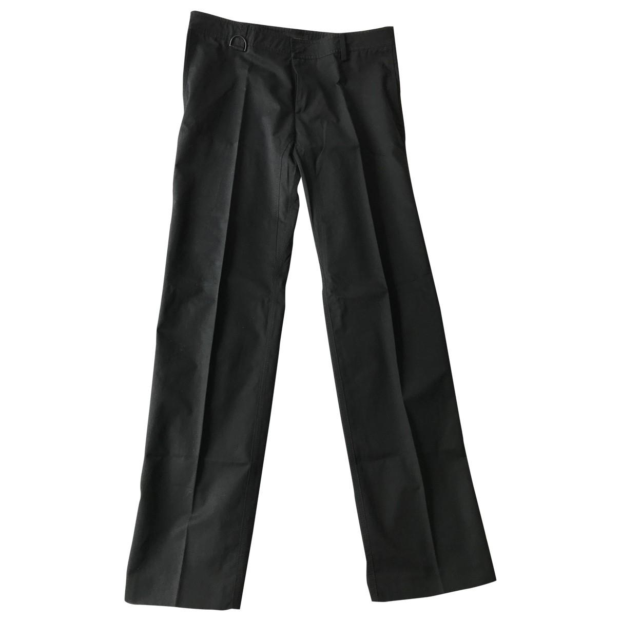 Pantalones en Algodon Negro Burberry