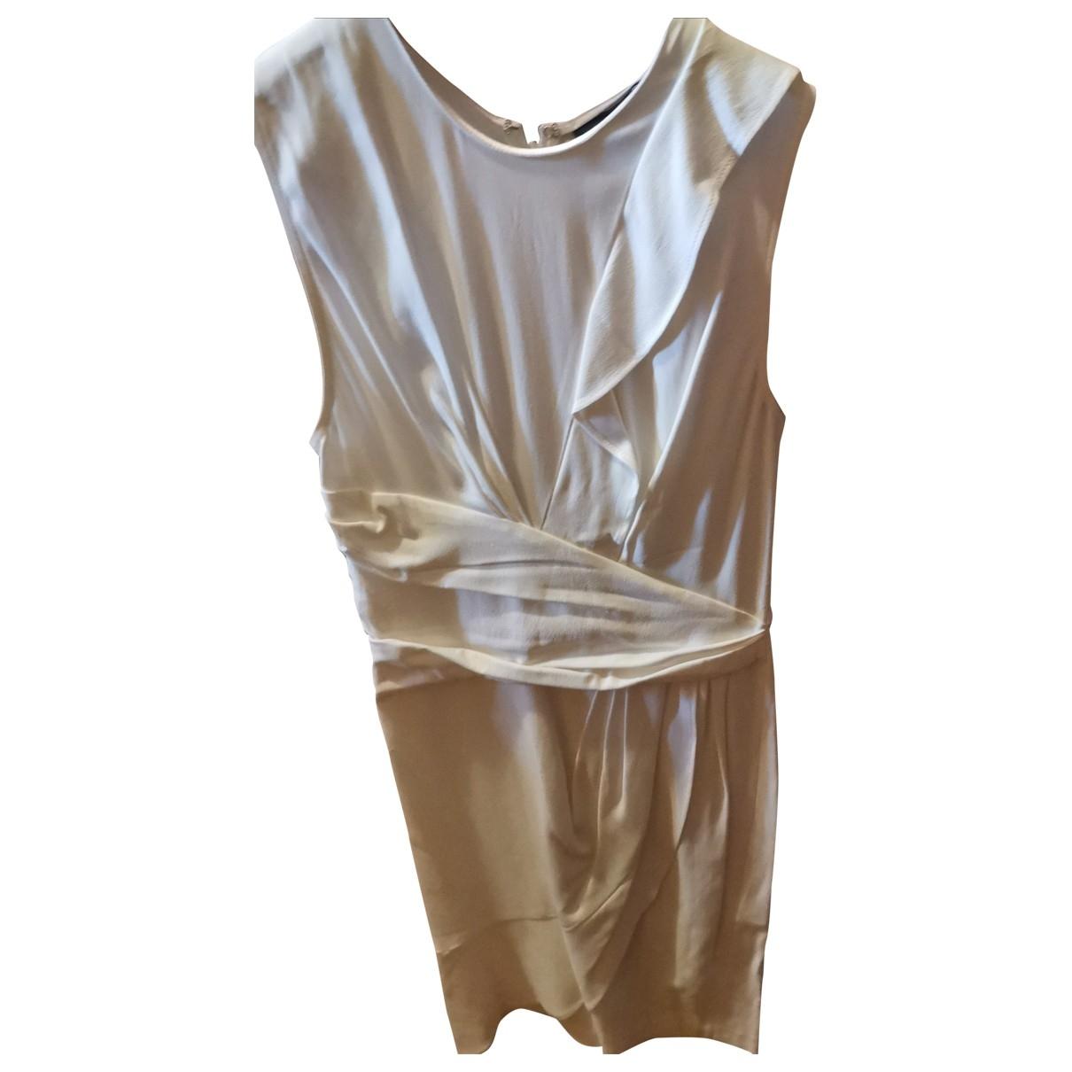 Elisabetta Franchi \N White Cotton - elasthane dress for Women 40 FR