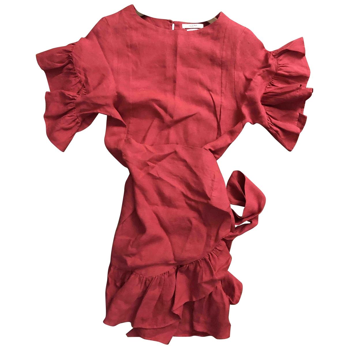 Isabel Marant Etoile \N Kleid in  Rot Leinen