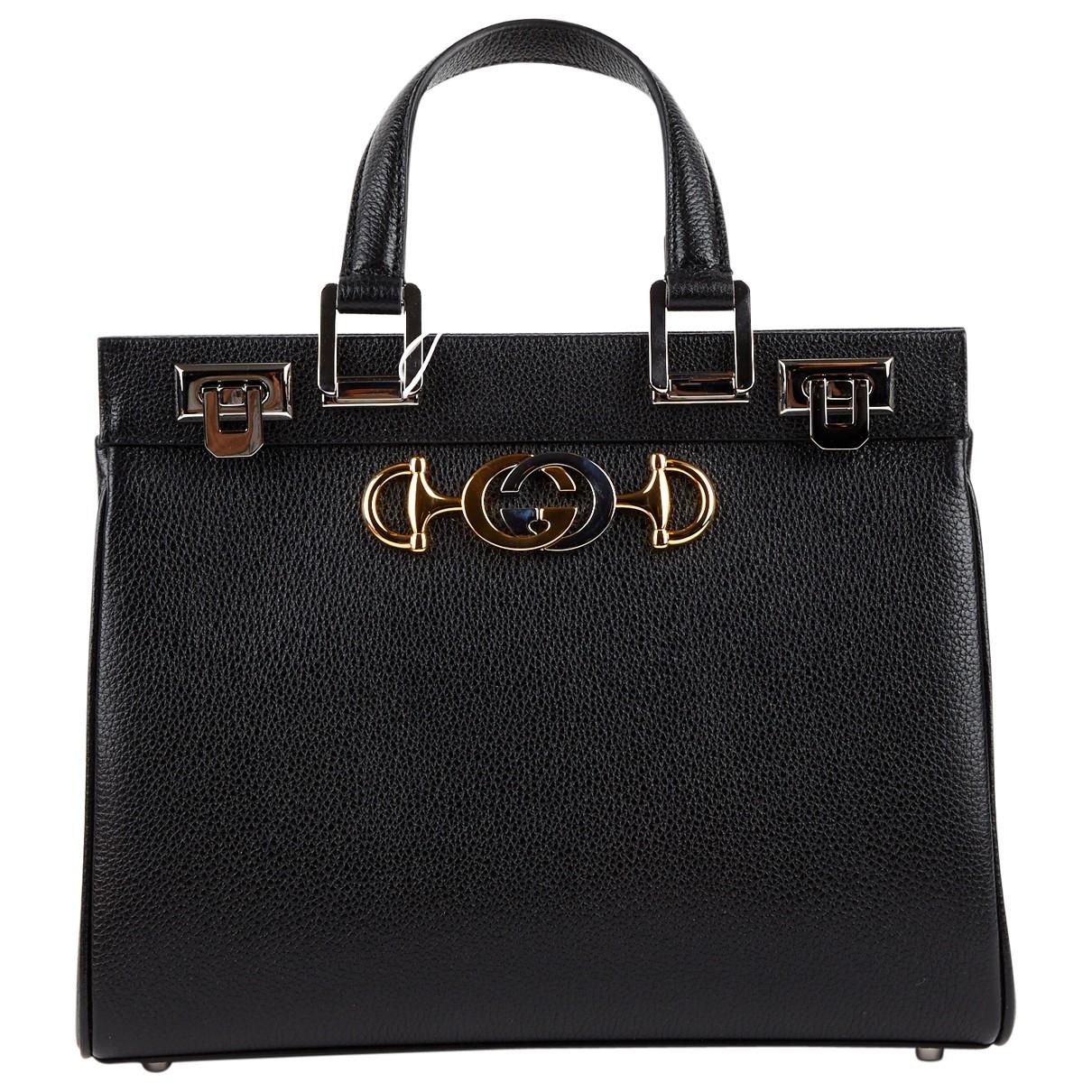 Gucci Zumi Handtasche in  Schwarz Leder