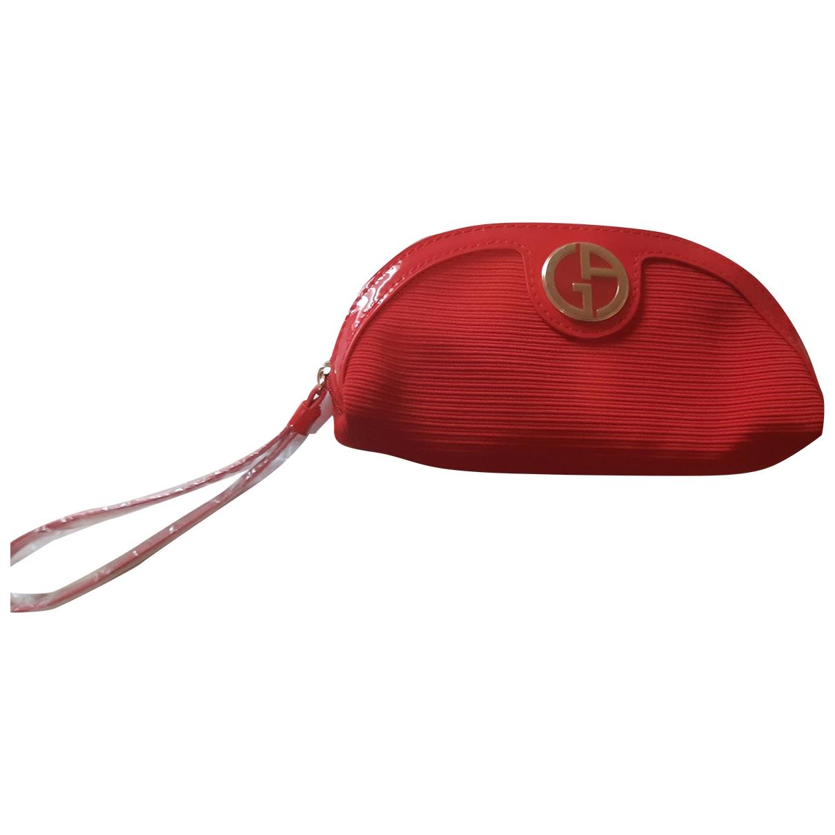 Giorgio Armani \N Reisetasche in  Rot Leinen