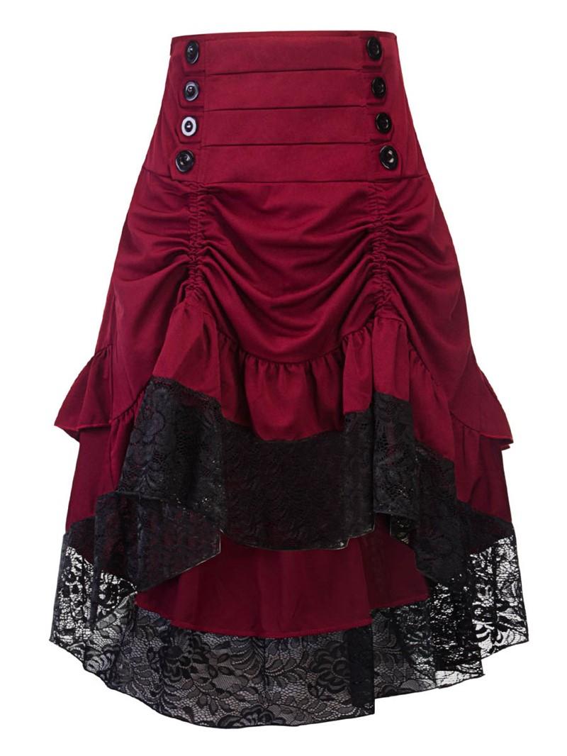Ericdress Ruffles Lace Women's Skirt