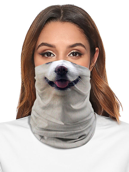 Milanoo Cycling Accessories Face Cover Seamless Bandana Dog Print Motorcycle Outdoor Tube Covering
