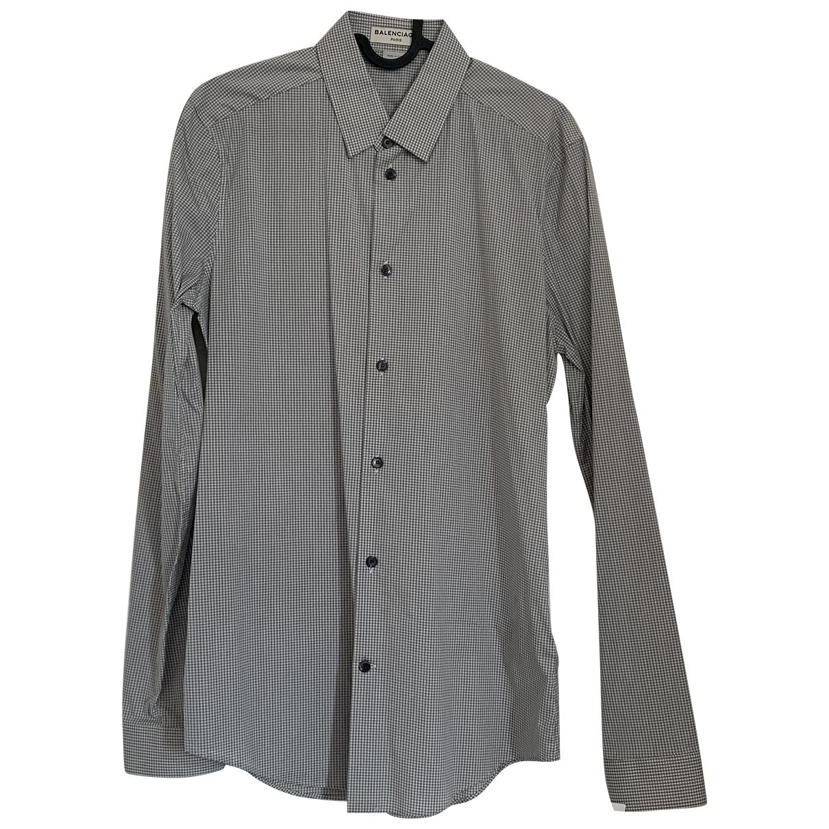 Balenciaga \N Hemden in  Grau Baumwolle