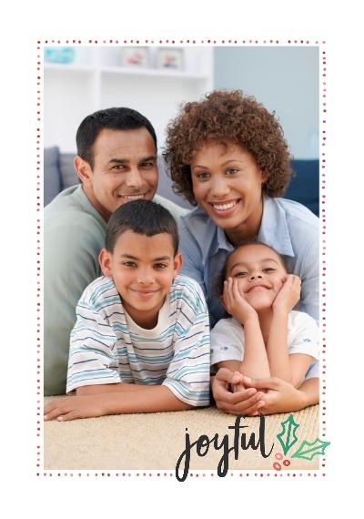Holiday Framed Canvas Print, Chocolate, 20x30, Home Décor -Joyful Holly