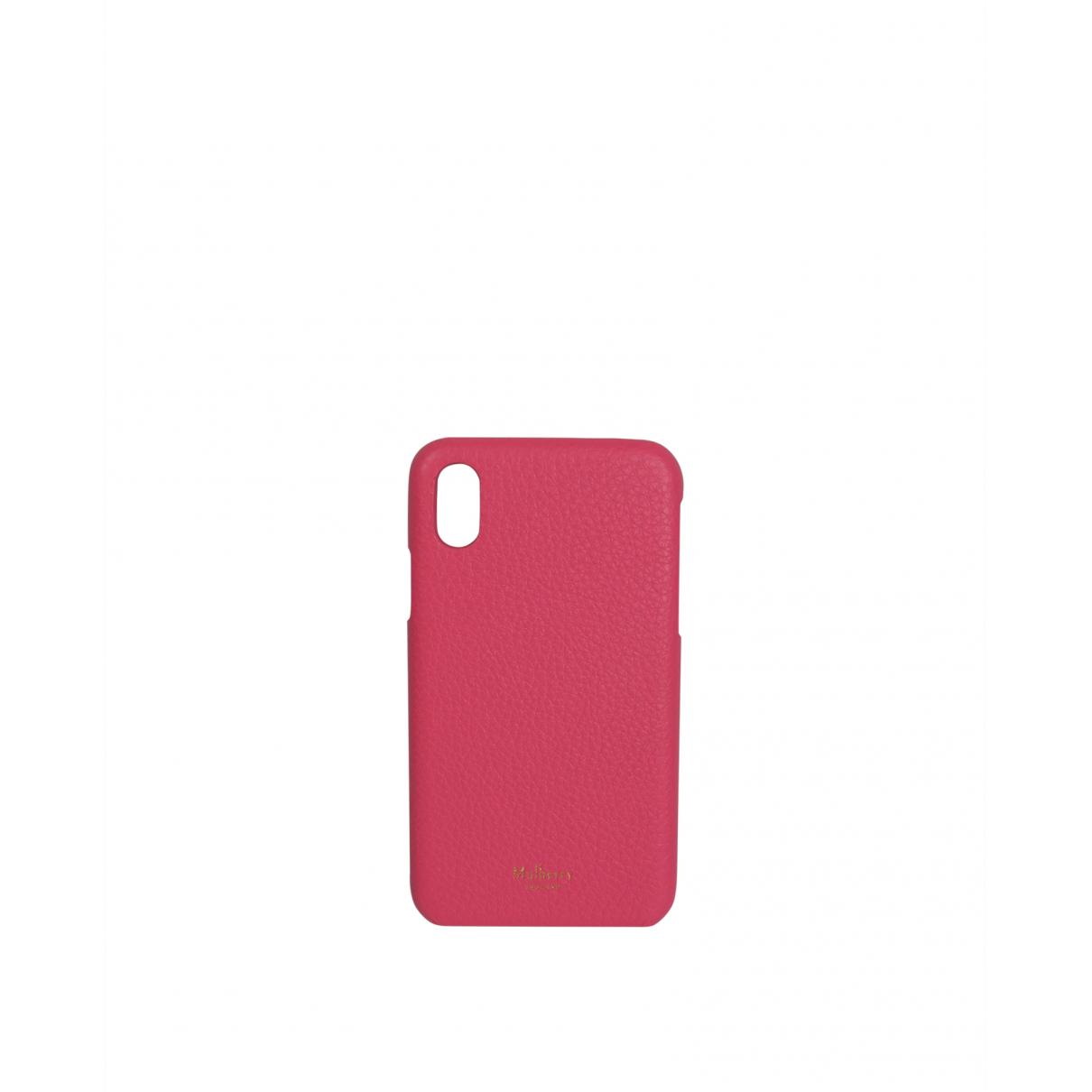 Funda iphone de Cuero Mulberry