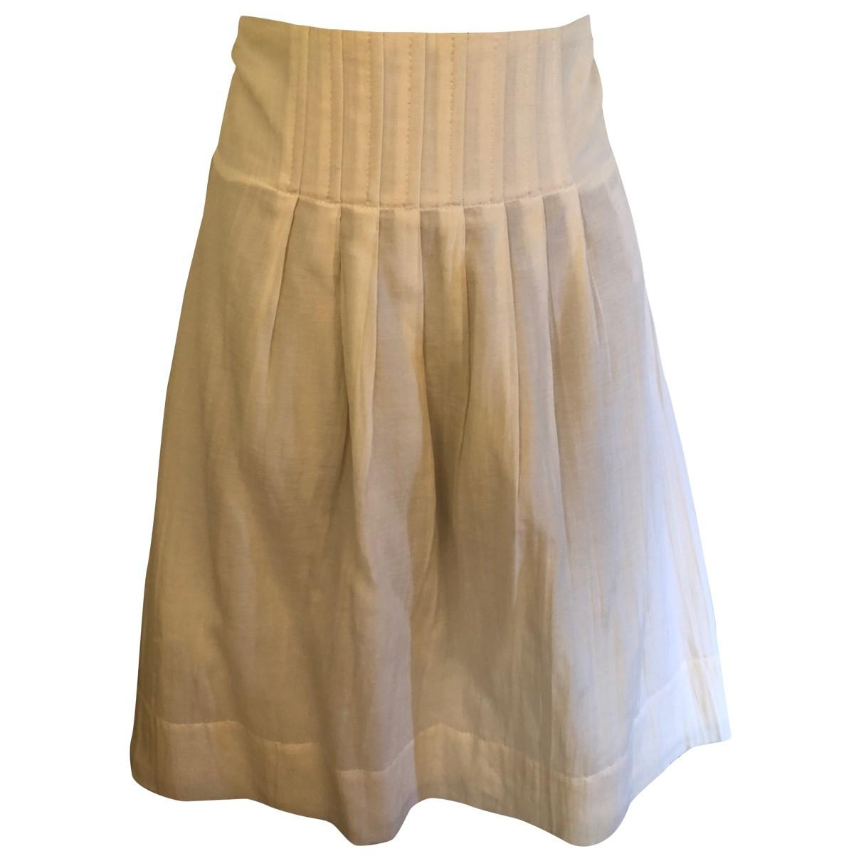 Boss - Jupe   pour femme en soie - blanc
