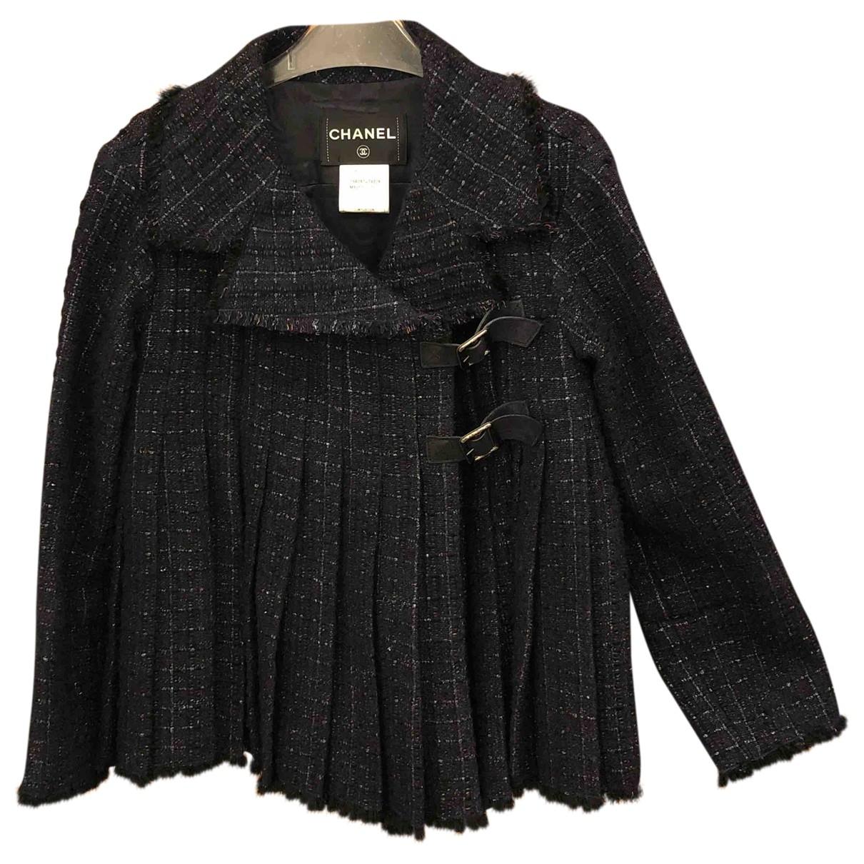 Chanel \N Navy Tweed jacket for Women 34 FR
