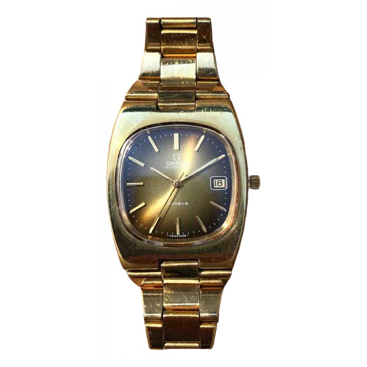 Omega - Montre   pour homme en plaque or - dore