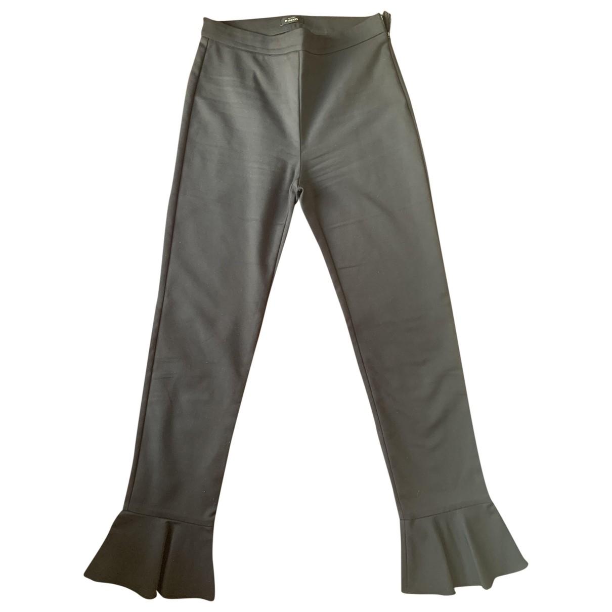 Pinko \N Black Cotton Trousers for Women 40 IT