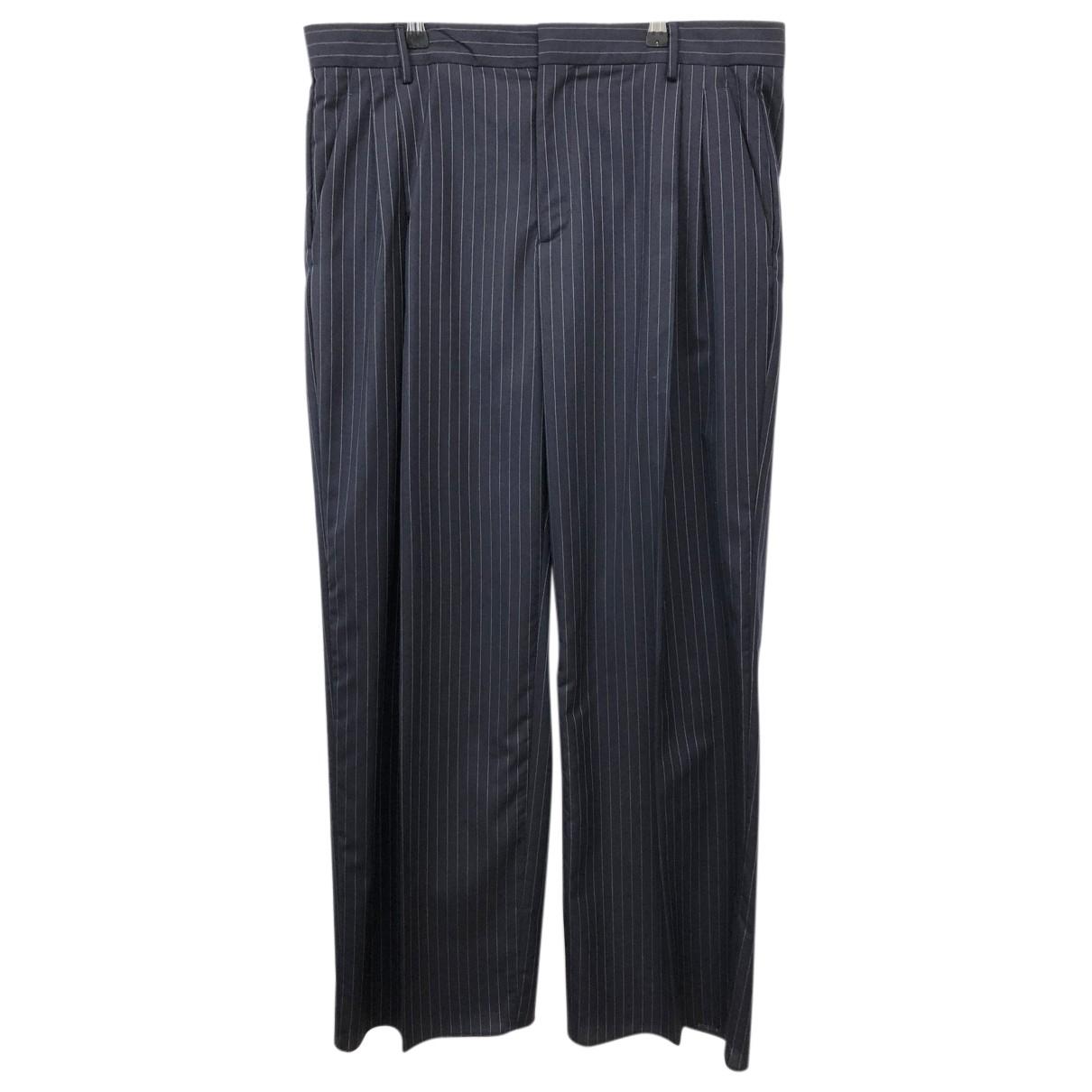 Loewe N Navy Wool Trousers for Men 52 IT