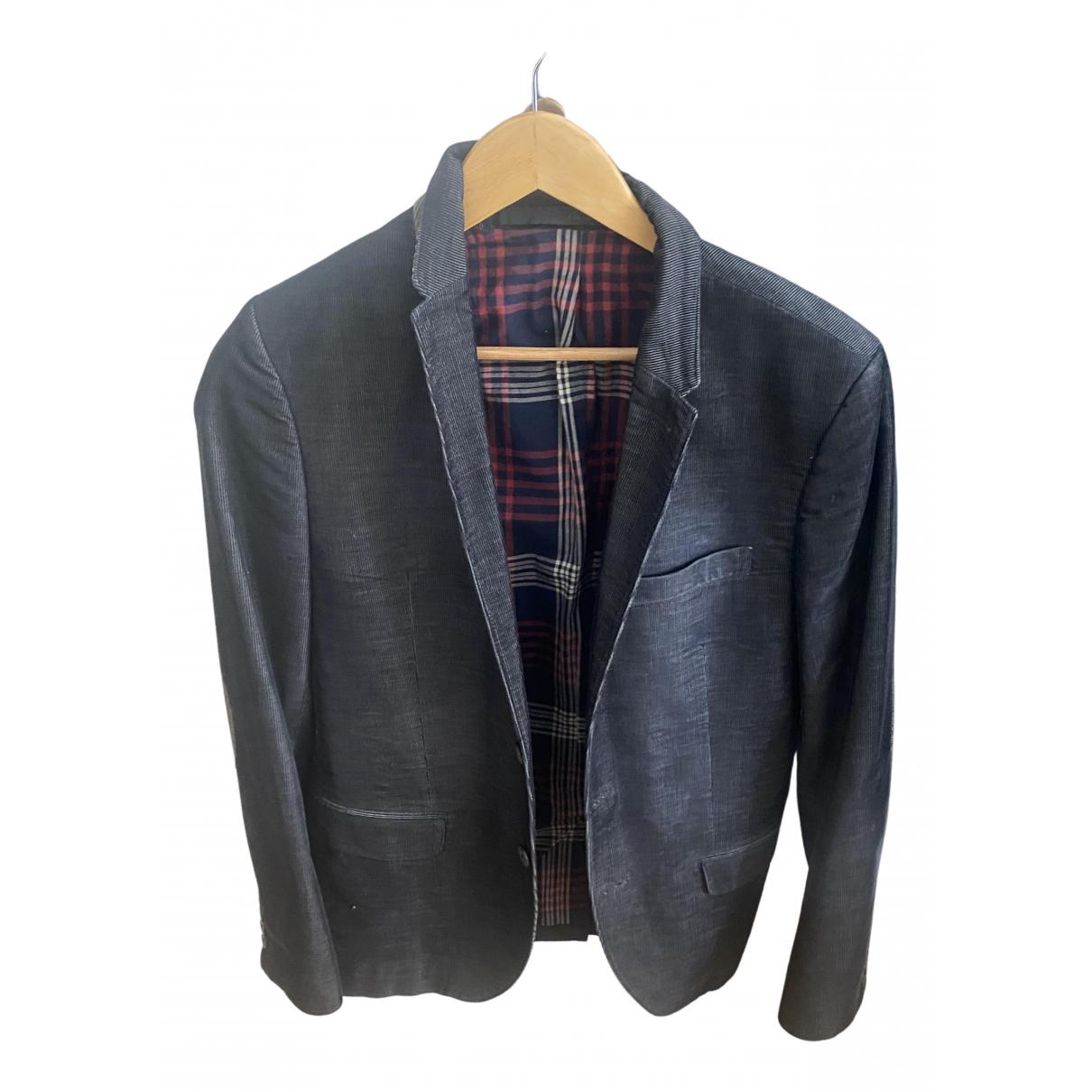 Ikks N Blue Cotton jacket  for Men 48 FR