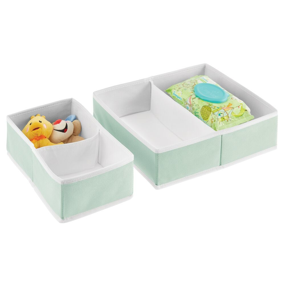 Fabric Drawer Organizers for Baby + Kids 7.5 x 11.75 x 4.1, by mDesign