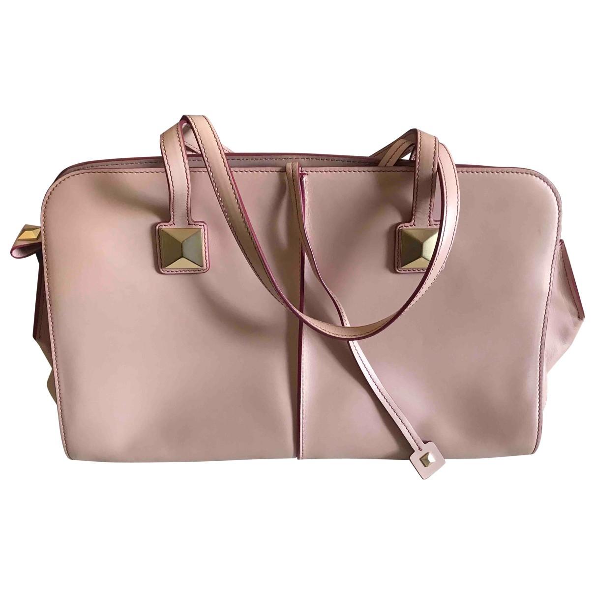Ports 1961 \N Handtasche in  Rosa Leder