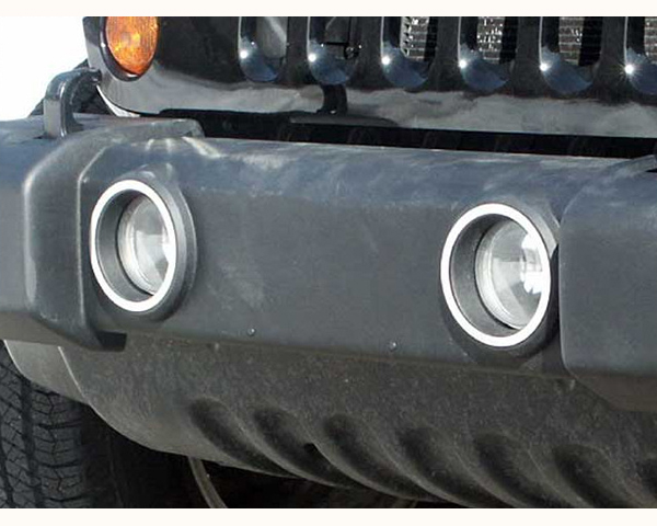 Quality Automotive Accessories 2-Piece Front Fog Light Trim RingS Jeep Wrangler 2010