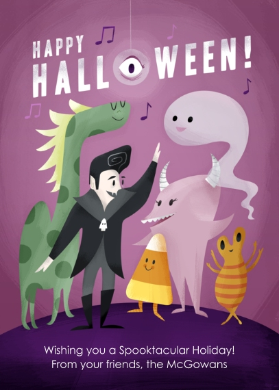 Halloween Photo Cards 5x7 Cards, Premium Cardstock 120lb with Elegant Corners, Card & Stationery -Monster Mash Greeting