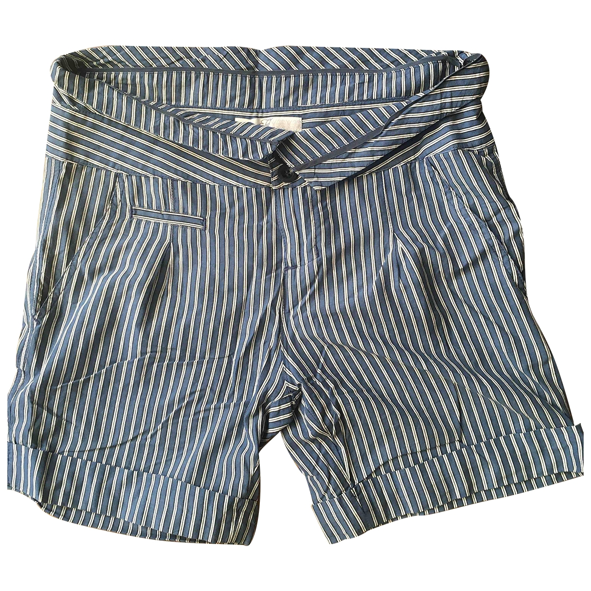 Non Signé / Unsigned \N Blue Cotton Shorts for Women 40 IT
