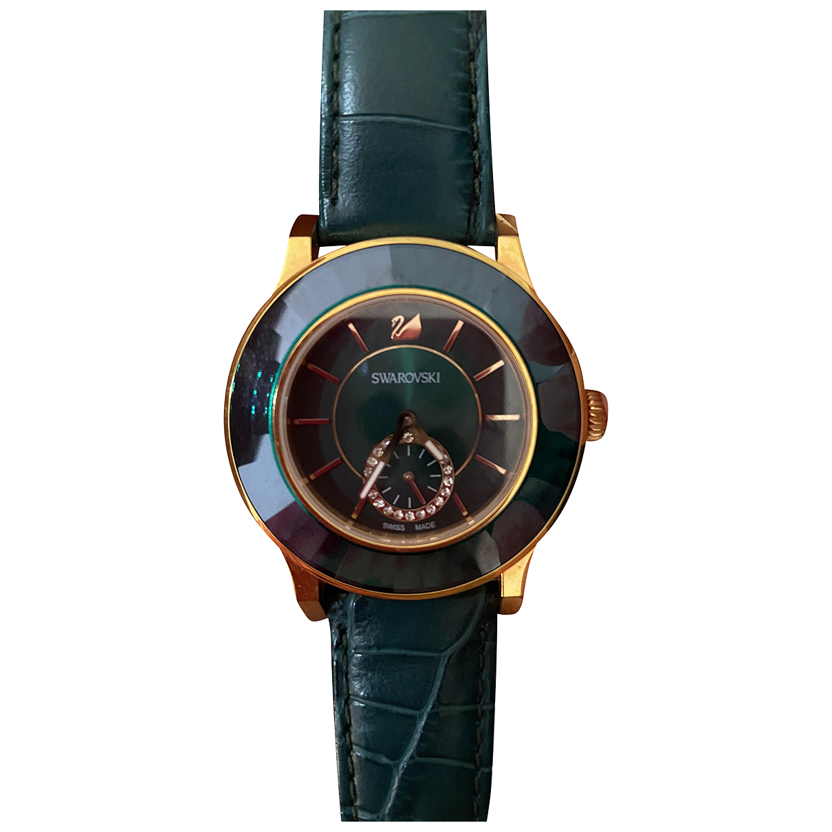 Swarovski N Green Gold plated watch for Women N
