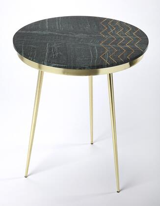 Hollings Collection 5402025 Accent Table with Modern Style  Round Shape  Medium Density Fiberboard (MDF) and Iron Metal Material in Metalworks