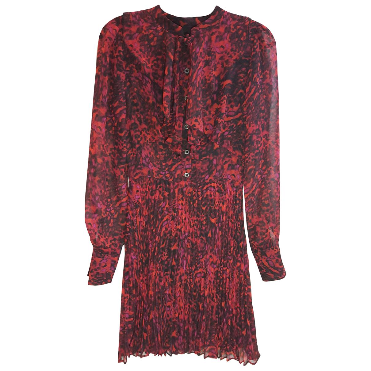 Karen Millen \N Kleid in  Bordeauxrot Polyester