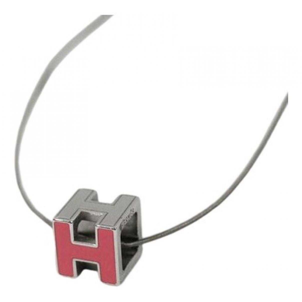 Hermes - Collier   pour femme en metal - rouge