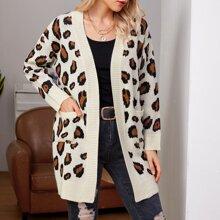 Double Pocket Leopard Cardigan
