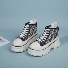 Lace-up Front Wide Fit Hiking Boots