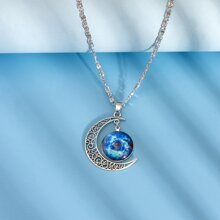 Maedchen Halskette mit Mond Anhaenger