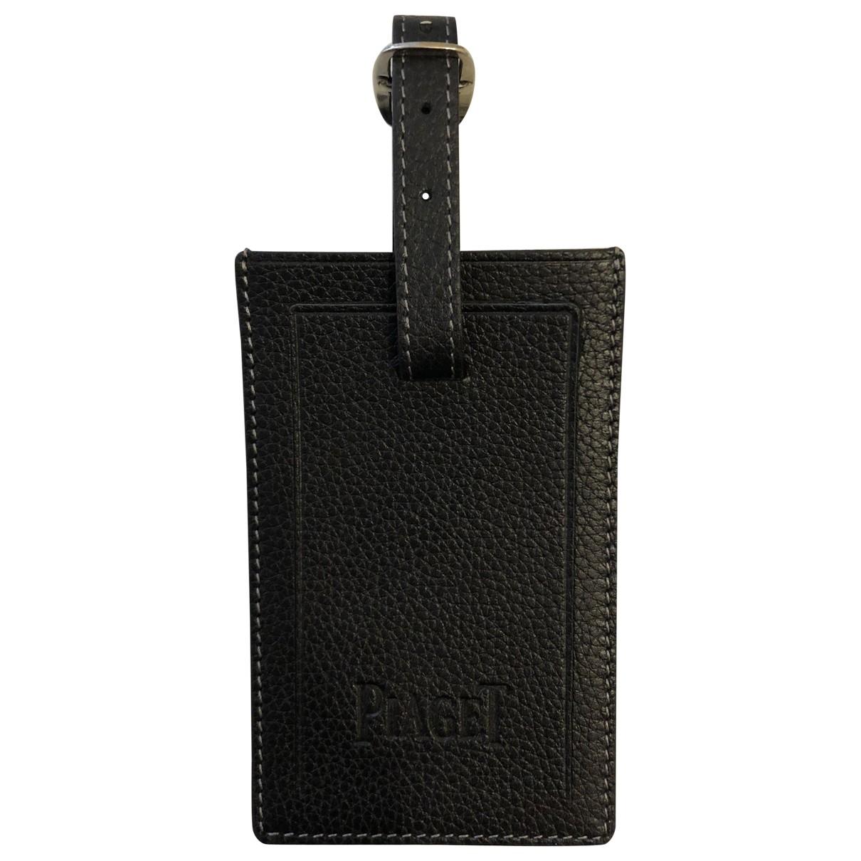 Piaget \N Taschenschmuck in  Schwarz Leder