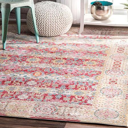nuLoom Vintage Modesto Area Rug, One Size , Pink