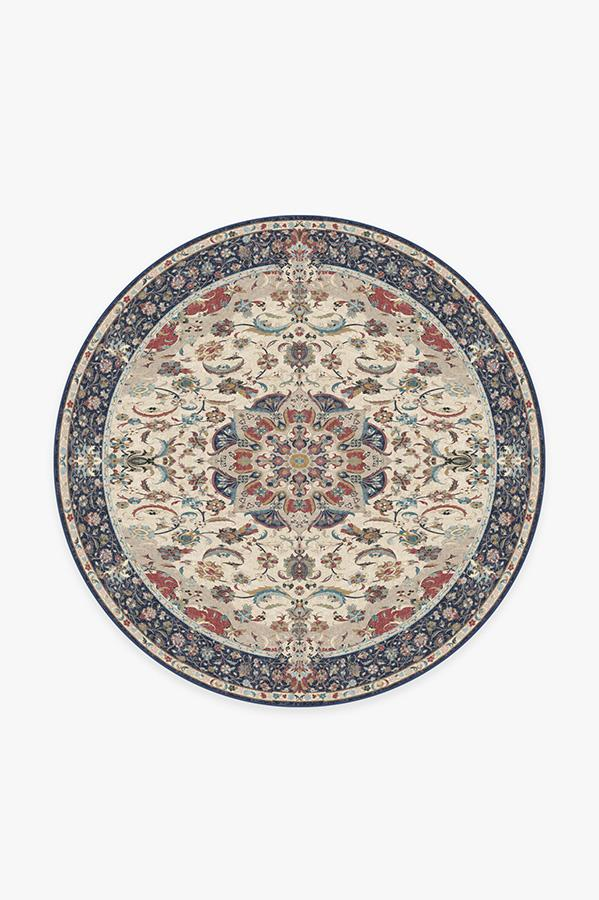 Washable Rug Cover | Sima Royal Blue Rug | Stain-Resistant | Ruggable | 6' Round