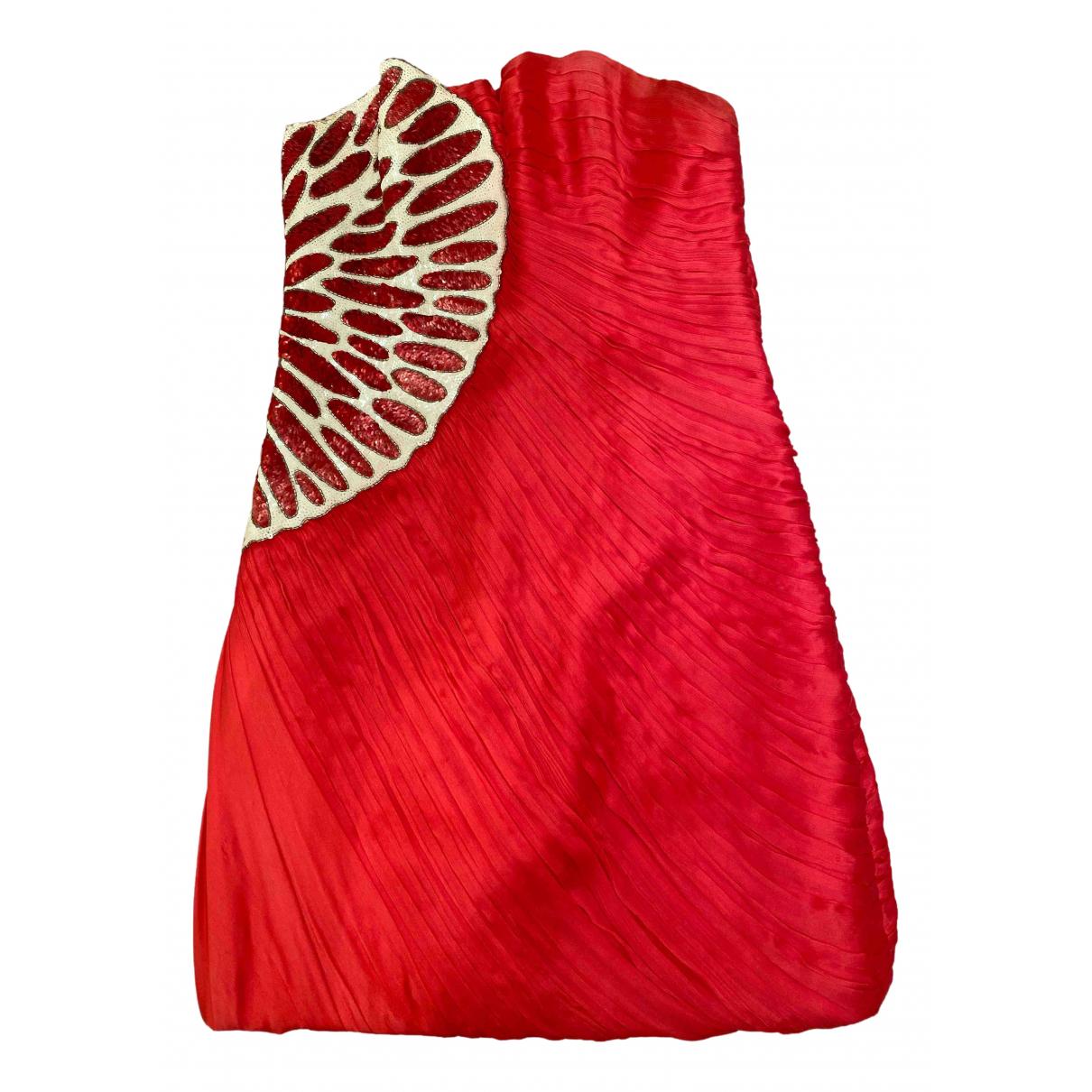 Jay Ahr \N Kleid in  Rosa Seide