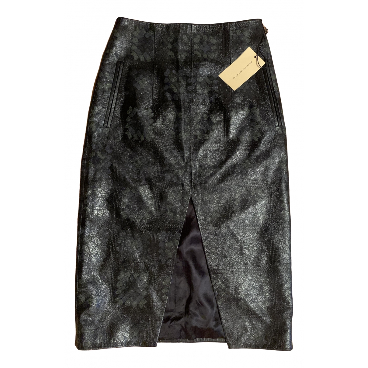 Christopher Kane \N Multicolour Leather skirt for Women 8 UK
