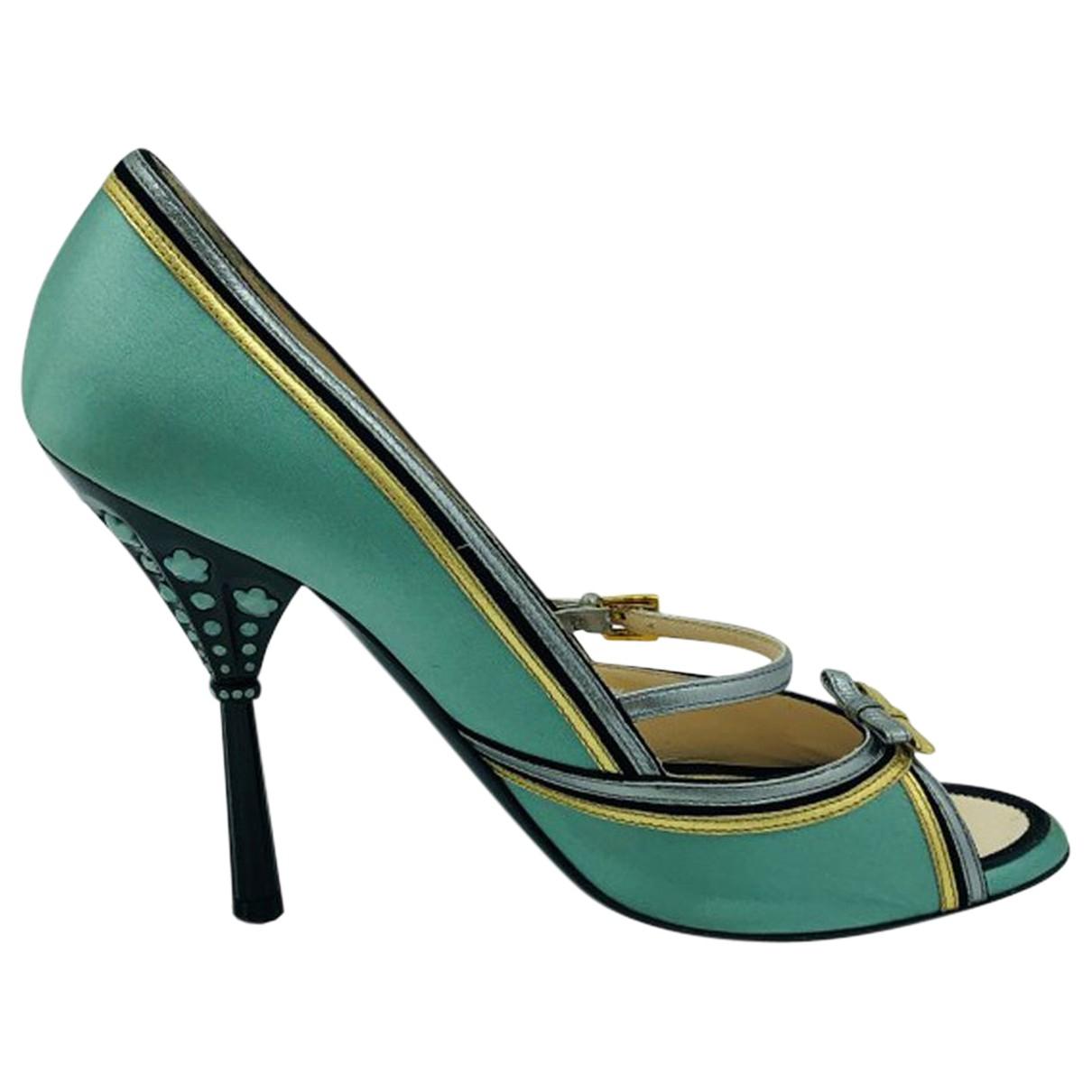 Prada \N Green Cloth Heels for Women 40 EU